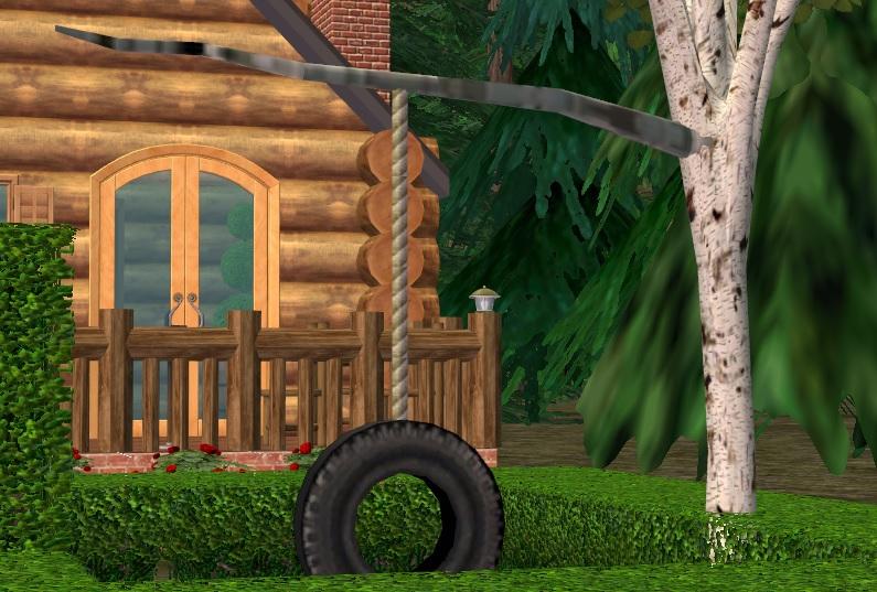 mod  sims birch tree recolour  phaenohs  tire swing