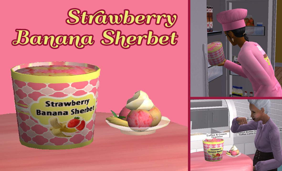 Mod The Sims - Strawberry Banana Sherbet! (Sherbet ...