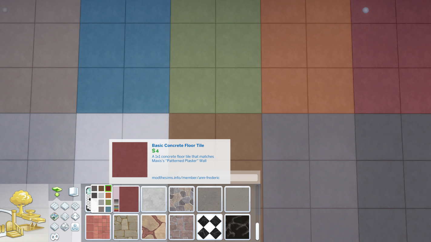 Mod The Sims A Concrete Floor Tile In 10 Colors That Match Maxiss