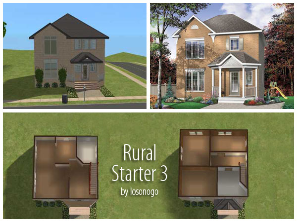 Mod the sims 3 rural starter homes for Small starter homes
