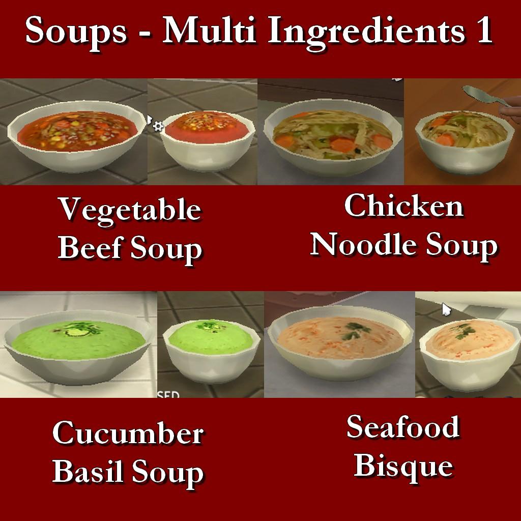 Custom Food Recipes Sims