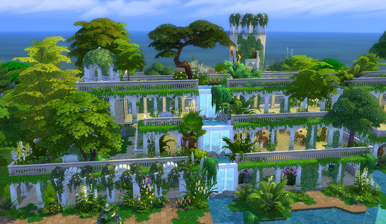 Mod The Sims Hanging Gardens Of Babylon Ver Ii No Cc
