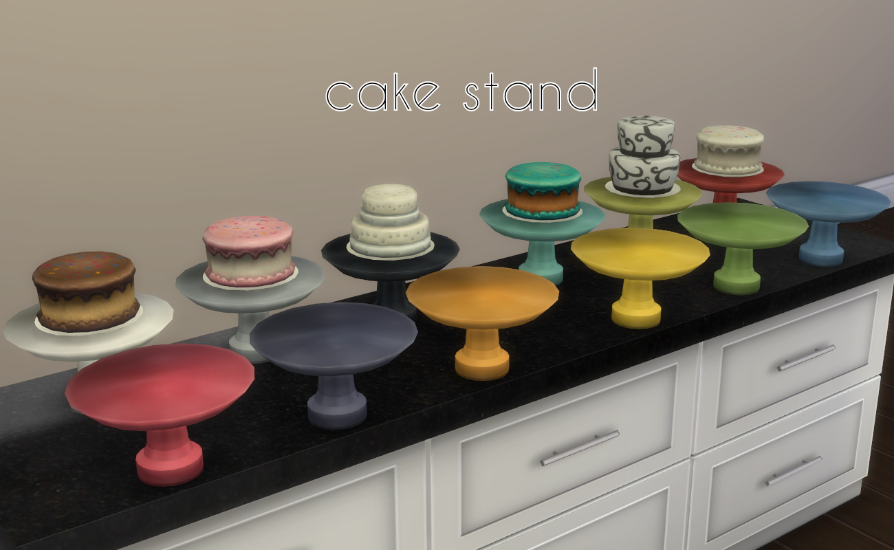 Mod the sims updated sumptuous kitchen add ons for Kitchen set cake