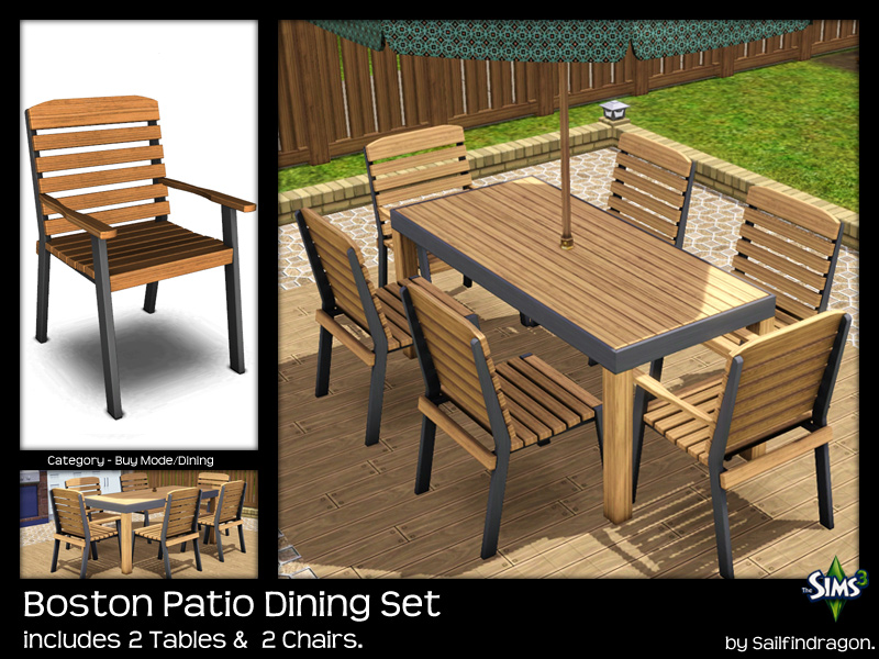 Boston Patio Dining Chair   No Arms: 1458. Boston Patio Dining Chair: 1870. Boston  Patio Dining Table: 886. Boston Patio Dining Table 1 X 1: 886