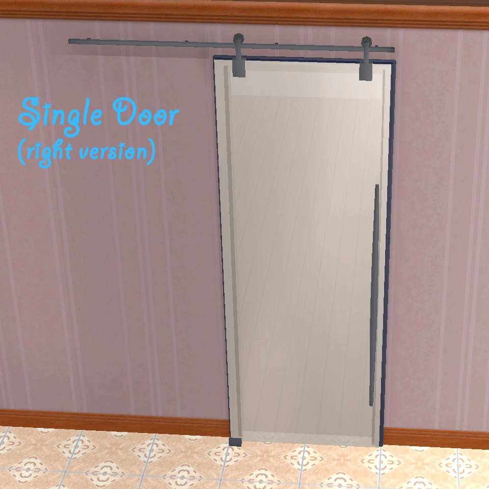 Sliding Doors The Sims 4: Avy's Sliding Glass Door