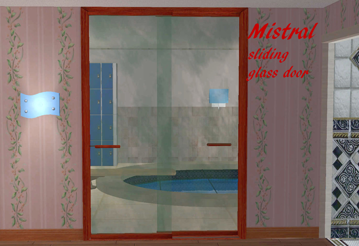 Mod the sims mistral sliding glass door this is intended primarily as an interior door but works as an exterior as well providing you dont mind the gap between the two glass panes planetlyrics Image collections