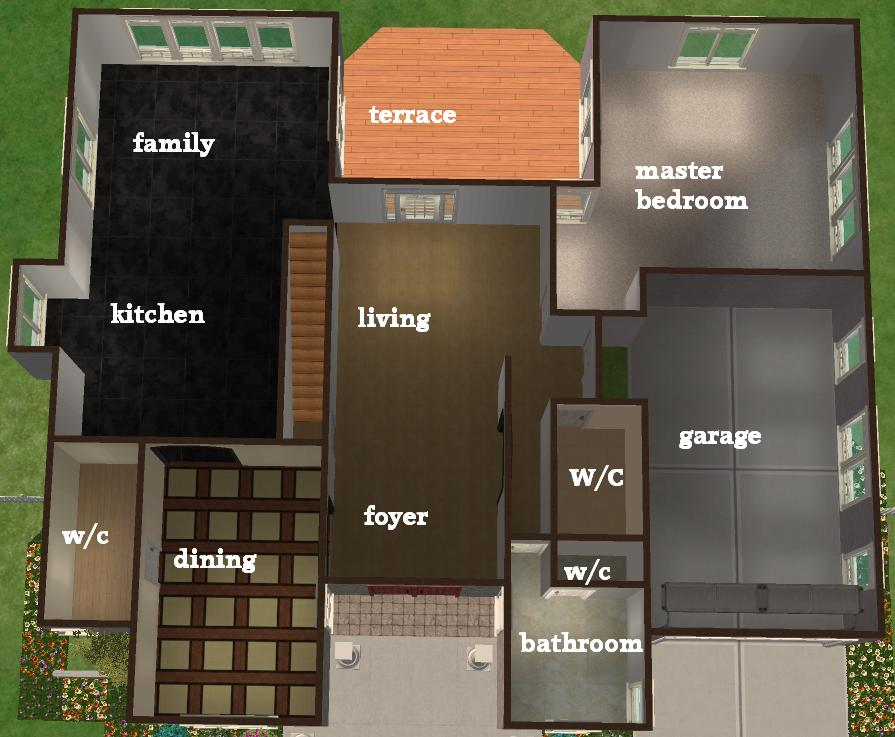 sims 3 4 bedroom house plans sims 3 4 bedroom house design - Sims 4 Home Design 2